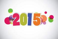 Happy new year 2015 card. Royalty Free Stock Images