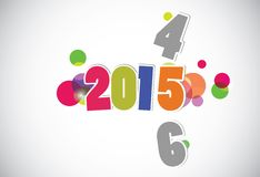 Happy new year 2015 card. Vector Royalty Free Stock Images