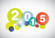 Happy new year 2015 card. Stock Image