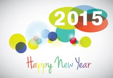 Happy new year 2015 card. Vector Royalty Free Stock Image