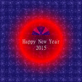 Happy new year 2015 card vector background Stock Images