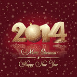 Happy new year card. Vector illustration of New year card Royalty Free Stock Photos