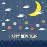 Happy New Year Card stock illustration
