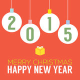 2015 Happy New Year Card. Vector Illustration Stock Images