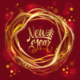 Happy New Year card. Vector illustration Royalty Free Stock Image