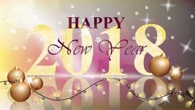 2018 Happy New Year card Vector illustration. Decor Royalty Free Stock Photos