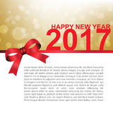 Happy new year 2017 card vector illustration. Rgb mode Royalty Free Stock Image