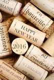 Happy New Year 2016. Happy New Year card with wine corks Royalty Free Stock Photos