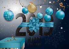 Happy New Year 2019 Card for your design. Vector illustration vector illustration