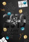 Happy New Year 2019 Card for your design. Vector illustration royalty free illustration