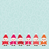 Happy New Year card for your text Funny gnomes in Stock Images