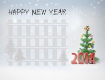 Happy new year 2014 cards f Stock Images