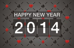 Happy new year 2014 - casino concept. Suitable for new year celebrations Royalty Free Stock Photo