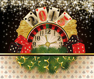 Happy New 2015 year Casino invitation card. Illustration Vector Illustration