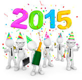 Happy New Year Celebration - 2015.  stock illustration