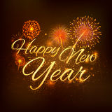 Happy New Year celebration abstract Starburst Seasons greetings background with firework Royalty Free Stock Images