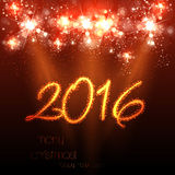 Happy New Year 2016 celebration background Royalty Free Stock Photos
