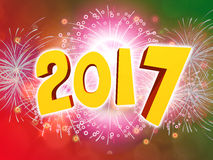 Happy New Year 2017 celebration background with firework. Happy New Year 2017 celebration party background with firework Royalty Free Stock Image