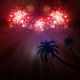 Happy New Year celebration background. Fireworks Royalty Free Stock Images