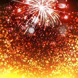 Happy New Year celebration background. Fireworks Royalty Free Stock Image
