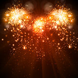 Happy New Year celebration background fireworks Stock Image