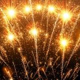 Happy New Year celebration background. Fireworks party disco stage royalty free illustration