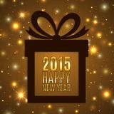 Happy new year 2015 celebration background with Royalty Free Stock Photos