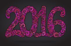 Happy New Year 2016 celebration background. Royalty Free Stock Images