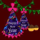 Happy New Year celebration background Stock Image