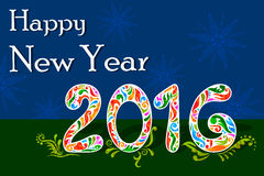 Happy New Year celebration background. Illustration of Happy New Year celebration background Stock Images