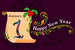 Happy New Year celebration background. Illustration of Happy New Year celebration background vector illustration