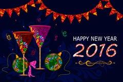 Happy New Year celebration background Stock Photos
