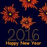Happy New Year celebration background Stock Photo