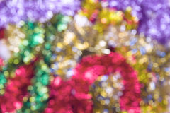 Happy new year celebration background. Multicolored bokeh light Stock Image