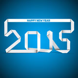 Happy New Year 2015 celebration background in a paper style Stock Photography