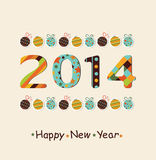 Happy New Year 2014 celebration background. Stylized  Happy New Year 2014 celebration colorful background Royalty Free Stock Photos