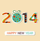 Happy New Year 2014 celebration background. Vector. Happy New Year 2014 celebration background. Can be use for stickers. Vector Royalty Free Stock Image