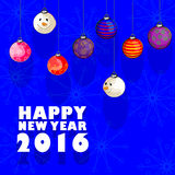 Happy New Year 2016 celebration background. Vector design of Happy New Year 2016 celebration background Royalty Free Stock Image
