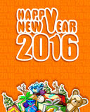 Happy New Year 2016 celebration background. Vector design of Happy New Year 2016 celebration background vector illustration