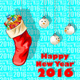 Happy New Year 2016 celebration background. Vector design of Happy New Year 2016 celebration background Royalty Free Stock Images