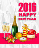 Happy New Year 2016 celebration background. Vector design of Happy New Year 2016 celebration background Stock Photo