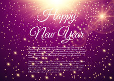 Happy New Year celebration background. Vector illustration Stock Photos