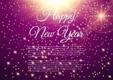 Happy New Year celebration background. Vector illustration Stock Photos