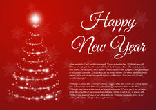 Happy New Year celebration background. Vector illustration Stock Photography