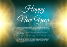 Happy New Year celebration background. Vector illustration Royalty Free Stock Photos