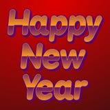 Happy New Year celebration background. Vector illustration Royalty Free Stock Photo