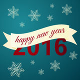 Happy New Year celebration background. Vector illustration Royalty Free Stock Images