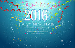 2016 happy new year Celebration background vector illustration Royalty Free Stock Photography
