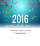 2016 happy new year Celebration background vector illustration Stock Images