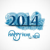 Happy new Year celebration 2014 beautiful stylish. Design Vector Illustration